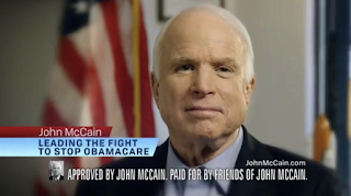 Lying RINO John McCain Says He Cannot Support Latest Obamacare Repeal Bill - But Ran on Repealing Obamacare