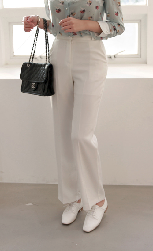 Crease Line Straight Leg Pants