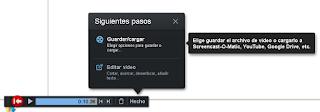 selecciona la opcion guardar/cargar para guardar el video