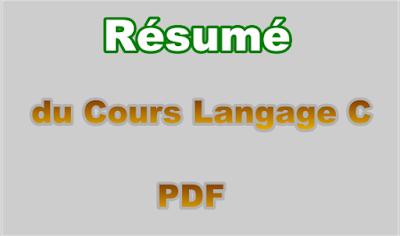 Résumé Cours Langage C PDF