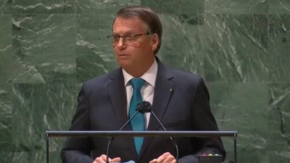 Em discurso na  ONU, Bolsonaro garante vacinação total até novembro