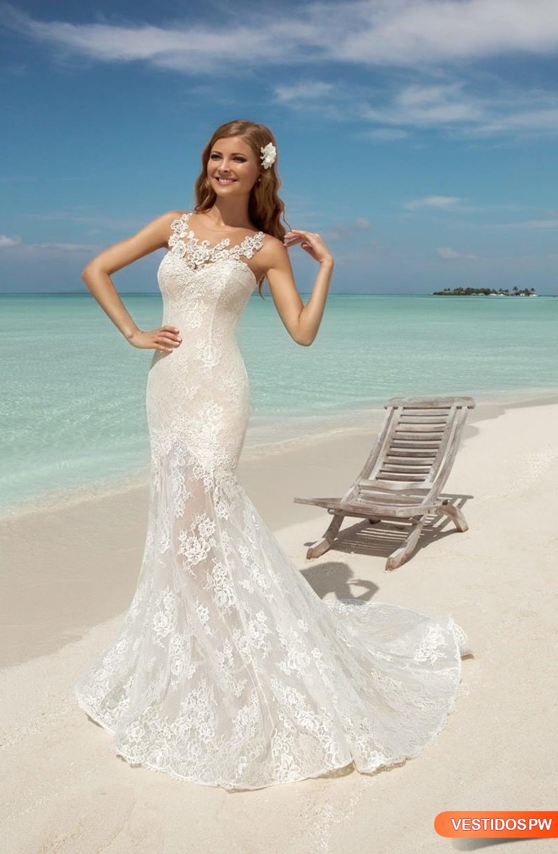 Fancy Vestidos De Novia Para Boda En La Playa Picture Collection ...