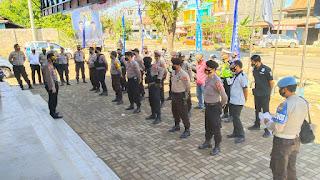 Deklarasi Calon Bupati, Polres Pangkep libatkan 62 Personil Pengamanan.