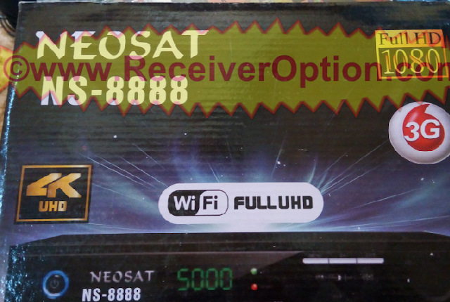 NEOSAT NS-8888 HD RECEIVER CCCAM & BISS KEY OPTION NEW SOFTWARE
