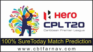 Guyana Amazon Warriors vs Jamaica Tallawahs CPL T20 26th 100% Sure Match Prediction