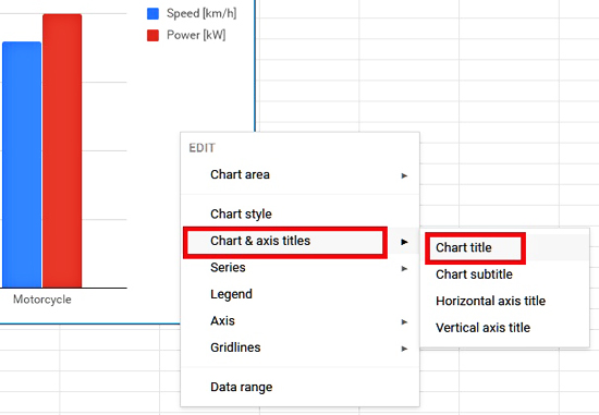 Customizing Chart Title