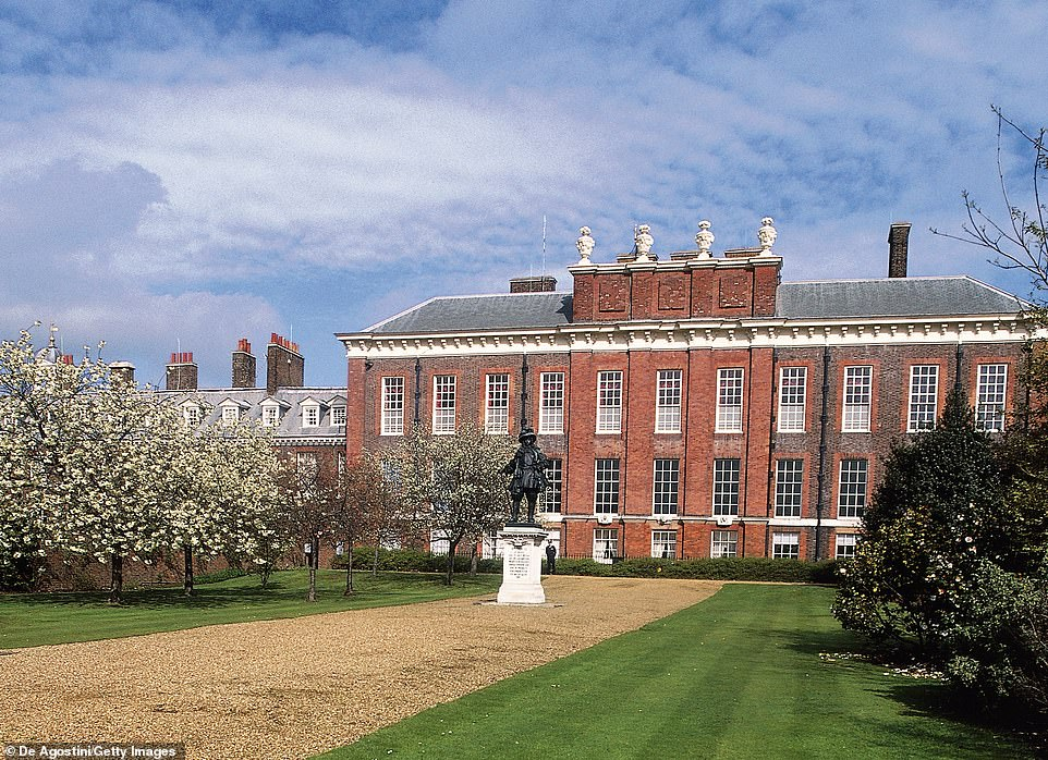 Harry and Meghan currently live at Nottingham Cottage, a property on the grounds of Kensington Palace (pictured) in central London