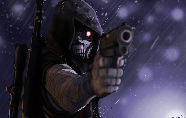 sao death gun mask wallpaper