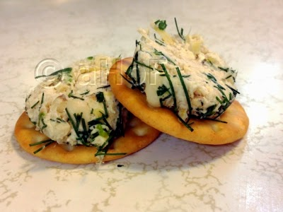 Chicken Artichoke Cheese Spread with Pine Nuts