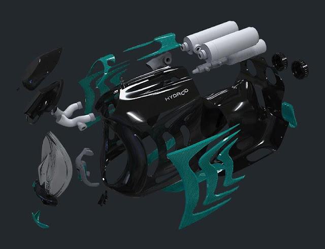 Hydroid Aquabriter scuba diving helmet