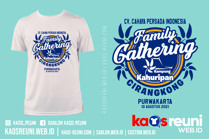 Sablon Kaos Family Gathering Kampung Kahuripan - Sablon Kaos Reuni Gathering