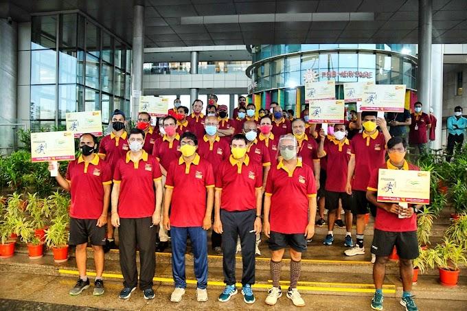 पीएनबी : फिट इंडिया फ्रीडम के लिए दौड़े अधिकारी व कर्मचारी, दिया ये संदेश