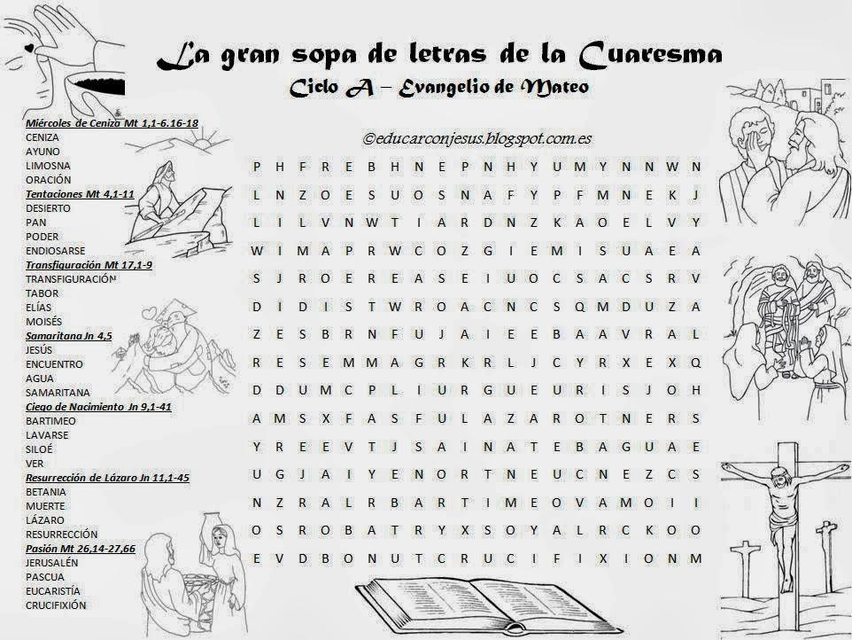 Sopa De Letras Para Imprimir De La Biblia Y Abel De Cain