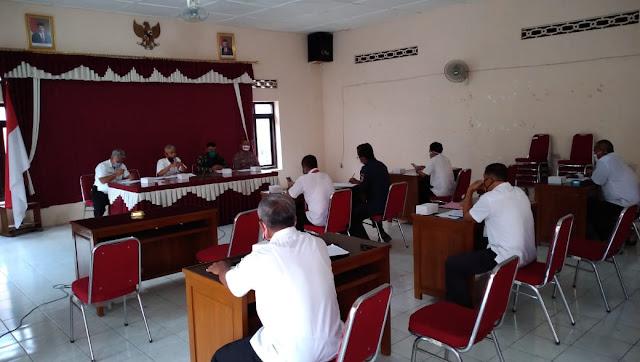 Gugus Tugas Kecamatan Pedan Gelar Rakor Lanjutan Penanggulangan Covid-19