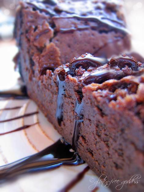 Gluten Free Goddess Flourless Chocolate Cake