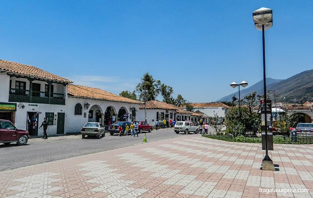 Praça da estação rodoviária de Villa de leyva
