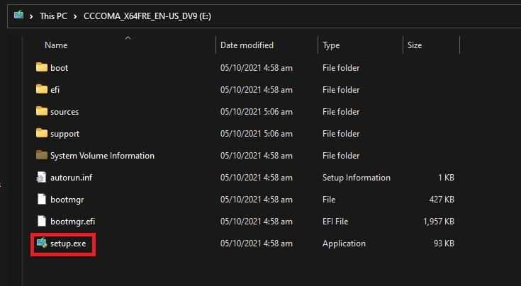 Windows 11 ISO USB information