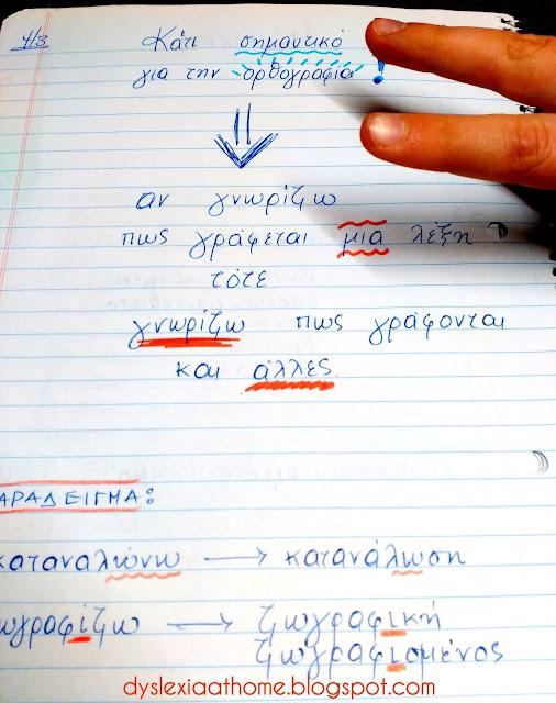 κανόνας, ορθογραφία, λέξεις, δυσλεξία