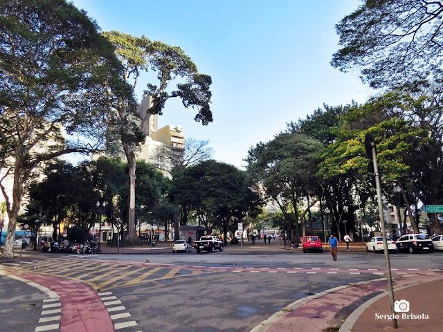Vista ampla de parte do Largo do Arouche - Republica - São Paulo