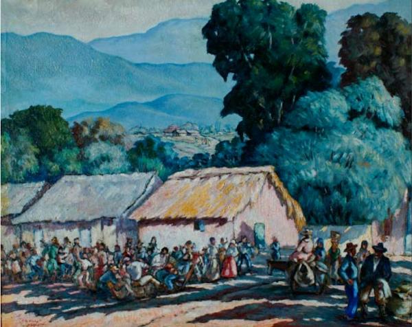A la fiesta, 1948