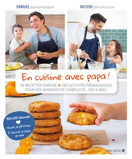 """Couverture livre """"En cuisine avec papa"""""""