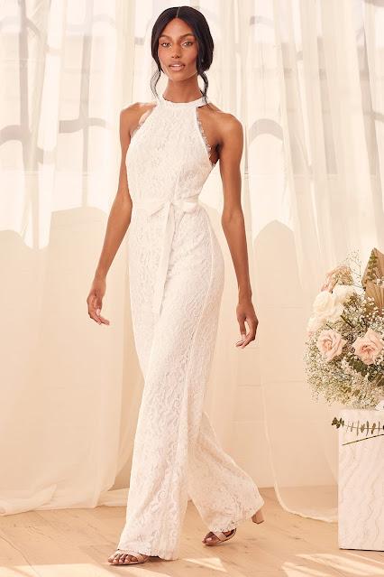 White-Lace-halter-wide-leg-jumpsuit-Lulus.com-KMich Weddings and Events-Philadelphia-PA