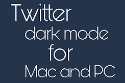 Dark mode for Twitter on PC and Mac