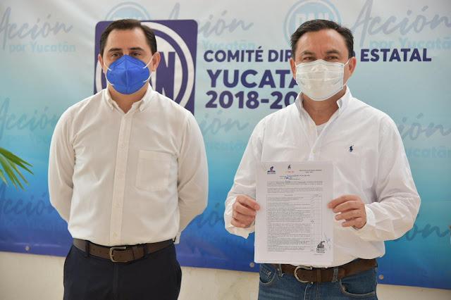 El empresario Liborio Vidal, candidato a diputado federal por el PAN