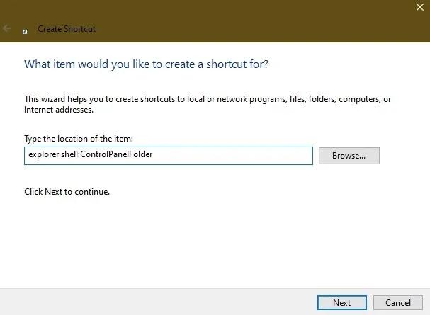 طرق فتح لوحة التحكم في Windows 10 Desktop1