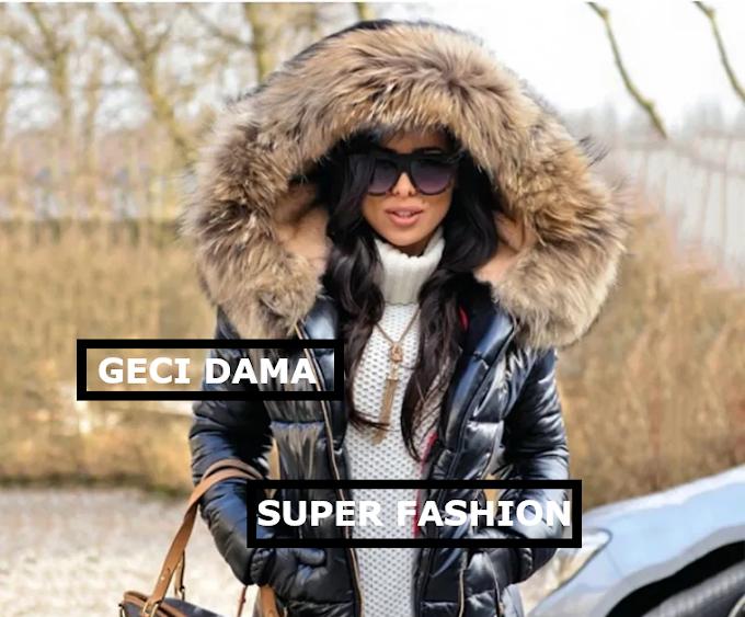 Geci dama de firma ieftine de iarna 2020 groase, din fas, cu blanita la moda