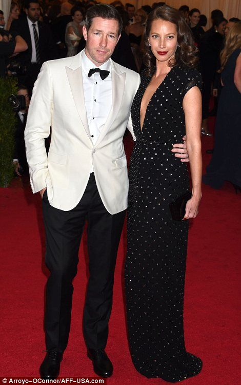 Christy Turlington and her husband, Ed Burns at the Met Gala 2014