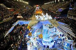 ilustração: desfile da escola de samba portela
