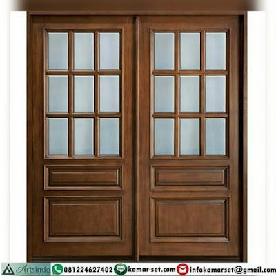 desain 2 pintu depan rumah minimalis