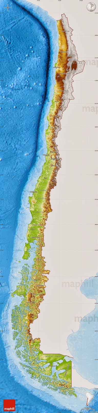 Chile | Mapas Geográficos do Chile
