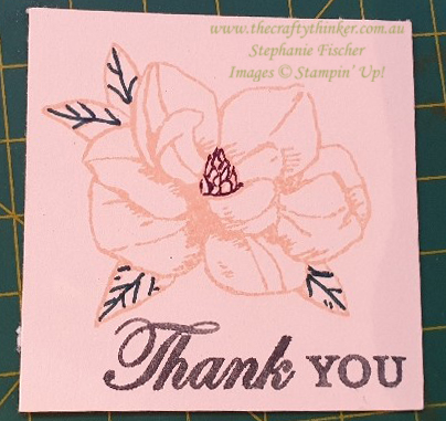 #thecraftythinker  #stampinup  #magnoliablooms  #countryfloral  #cardmaking  #nolinecolouring , Magnolia Blooms, Country Floral Embossing Folder, Versamark, No Line Colouring, Stampin' Up Australia Demonstrator, Stephanie Fischer, Sydney NSW