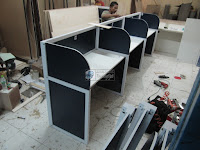 Meja Sekat Kantor Lurus - Custom Furniture Kantor Semarang
