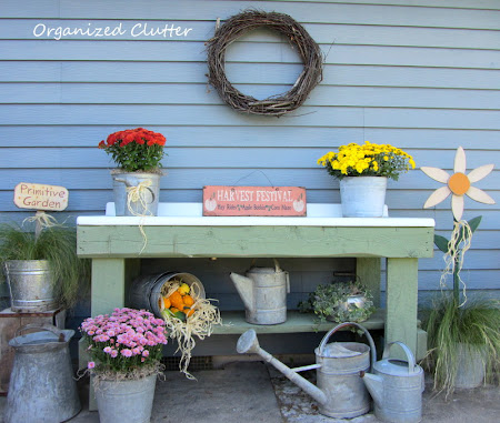 Early Fall Potting Bench<