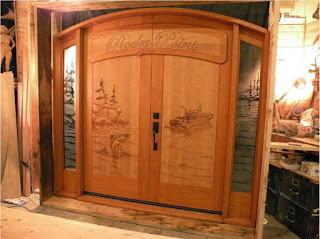model pintu kayu terbaru
