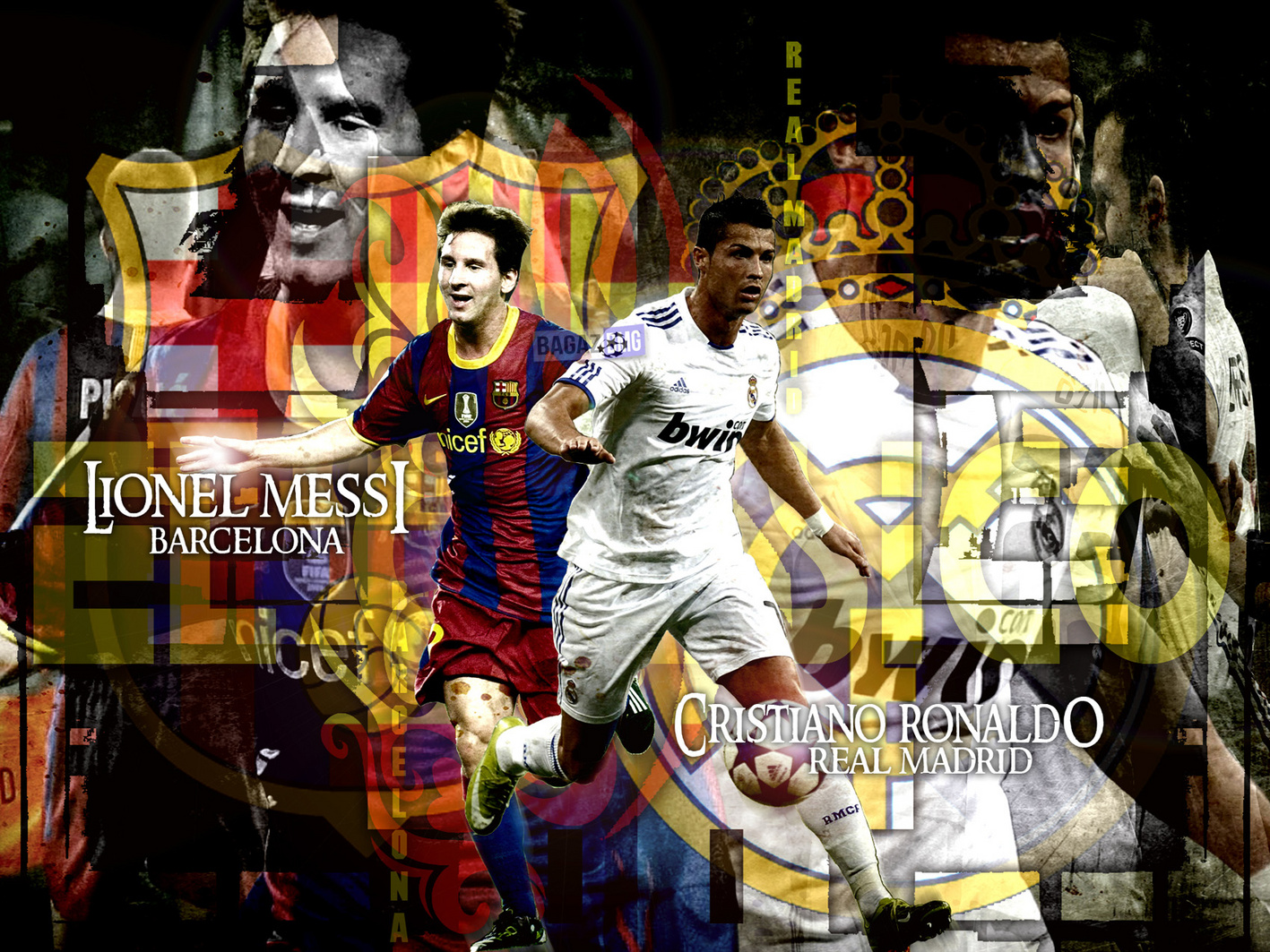 Wallpaper Wallpaper De Messi Vs Cronaldo