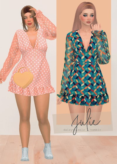 - ̗̀ Julie Dress ̖́- (TS4)