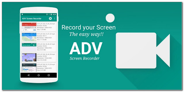 Aplikasi perekam layar HP ADV Screen Recorder