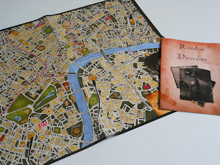 Sherlock Holmes Consulting Detective game components