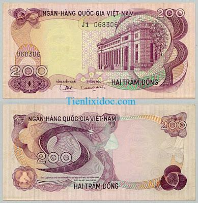200 đồng việt nam cộng hòa 1969