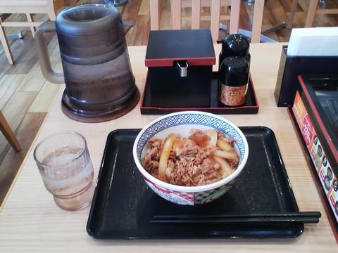 牛丼(並盛)¥380-1 吉野家稲沢市役所前店