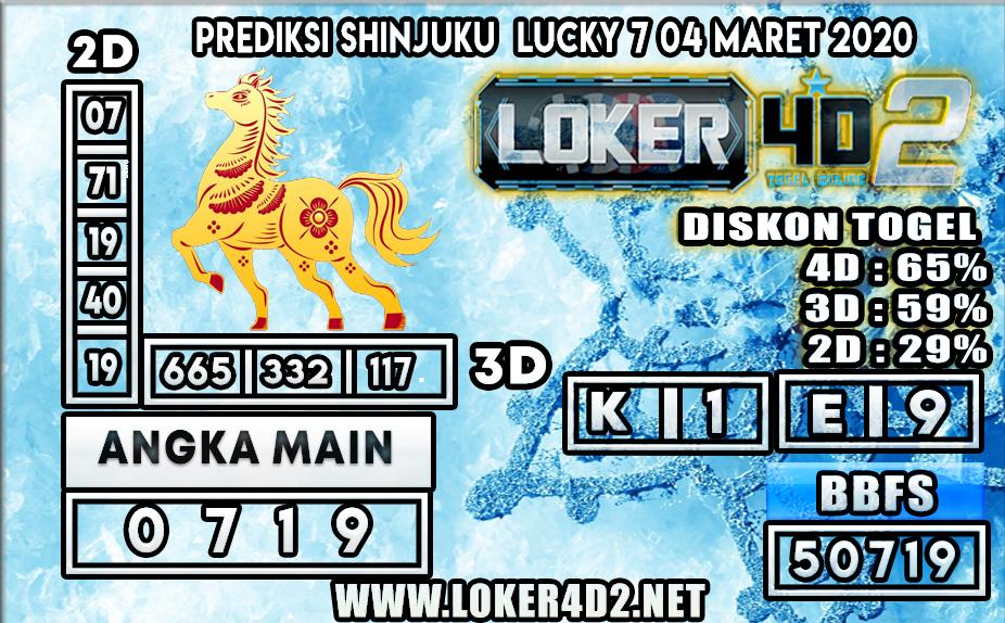 PREDIKSI TOGEL SHINJUKU LUCKY7 LOKER4D2 4 MARET 2020