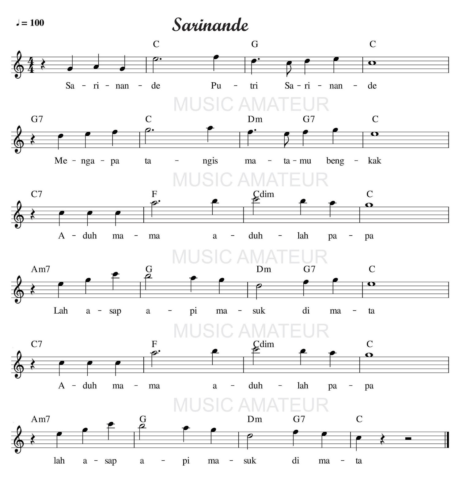 Chord Lagu Lihat Kebunku Seputar Musik Mencari Akor Chords