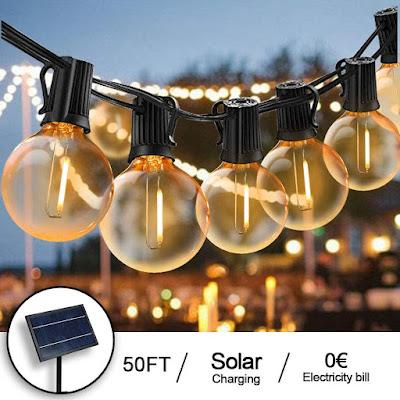 luces solares terraza exterior