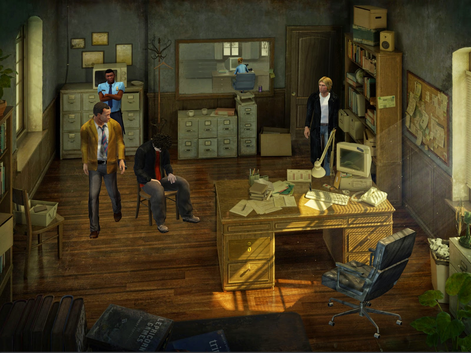Gabriel Knight Sins of the Fathers 20th Anniversary detective Mosley's office interrogation
