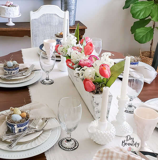 Spring table decor and DIY goblets
