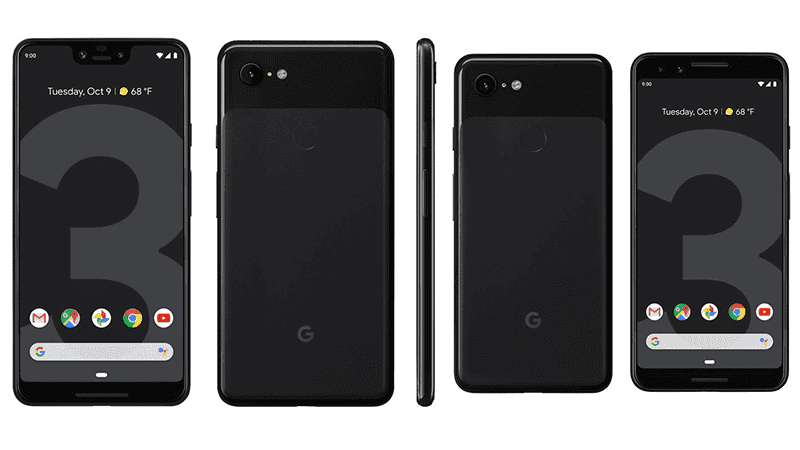 Pixel 3 and Pixel 3XL side by side